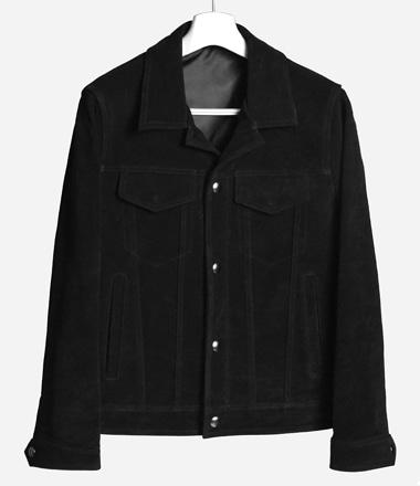 수입 소가죽 스웨이드 트리커자켓 (Black)